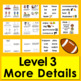 Football Mini Books:  Updated for 2019 Super Sunday -3 Levels & Word Wall w/Pics