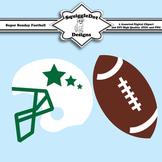 Super Sunday Football Clip Art