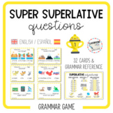 SUPER SUPERLATIVE QUESTIONS - speaking cards [English & Spanish]