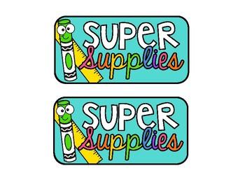 Black and Bright Super Supplies Reward Label for Caddy