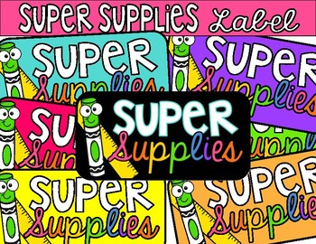 Black and Bright Super Supplies Reward Label for Caddy