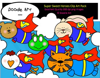 Super Sweet Heroes Clipart Pack