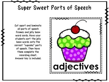 Super Sweet Parts of Speech