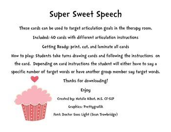 Super Sweet Speech: An Articulation Game
