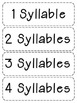 Super Sweet Syllable Practice for centers, daily warm up and homework