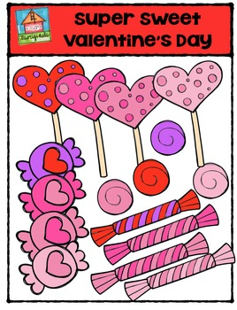 Super Sweet Valentine's Day {P4 Clips Trioriginals Digital Clip Art}