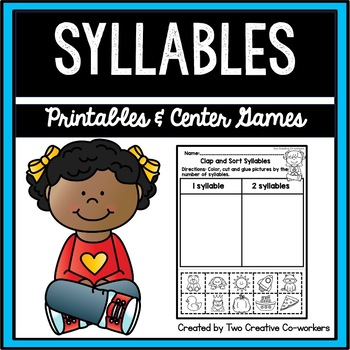Syllables - Sorting Worksheets and Literacy Center Activities