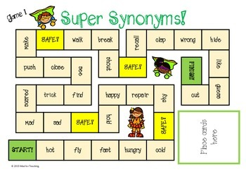 Super Synonyms Board Games!