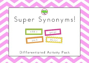 Super Synonyms Differentiated Activity Pack