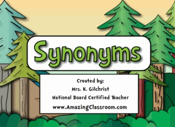 Super Synonyms Lesson for SMART Notebook - Smartboards
