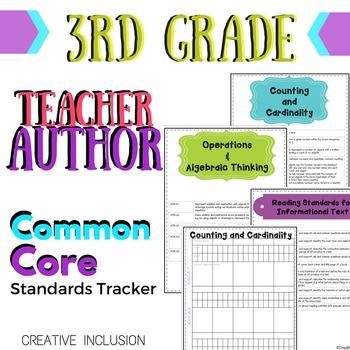 Super Teacher-Author Common Core Curriculum Organizer for 3rd grade
