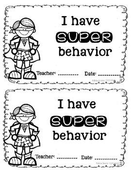 Super Teacher Behavior Binder Resources