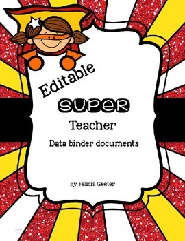 Super Teacher Data Binder {Editable}