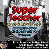 Super Teacher Costume Patterns Grade Level Pack | Preschool through High School