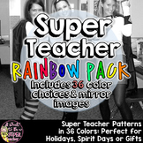 Super Teacher Costume Patterns Rainbow Pack | Easy Teacher Halloween Costume