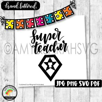 Super Teacher SVG Design