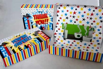 Super Teacher Super Hero Teacher & Staff Appreciation Pop Up Gift Card Box