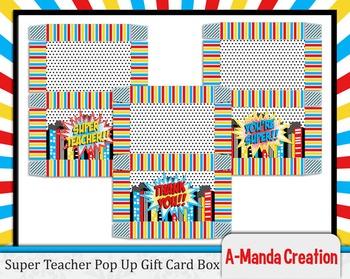 Super Teacher Super Hero Teacher & Staff Appreciation Pop