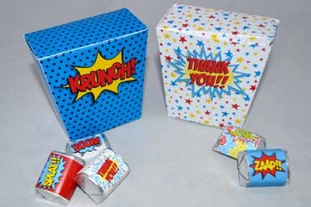 Super Teacher Super Hero Teacher & Staff Appreciation Printable Favor Boxes