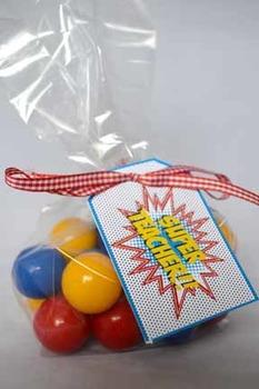 Super Teacher Super Hero Teacher & Staff Appreciation Printable Gift Tags