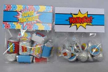 Super Teacher Super Hero Teacher and Staff Appreciation Printable Bag Toppers