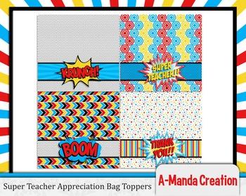 Super Teacher Super Hero Teacher and Staff Appreciation Pr