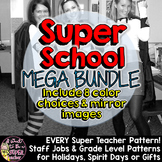 Super School Iron-On Mega Pack:Outfit your whole staff-EVERY Iron-on in my Store