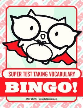 Super Test Taking Vocabulary Bingo
