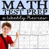 Third Grade Math Test Prep - Weekly Multiple Choice Tests - Editable