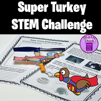 Super Turkey STEM Challenge Thanksgiving Activity