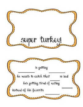 Super Turkey Thanksgiving Music Activity