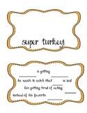 Super Turkey Thanksgiving Music Activity