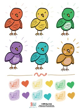 "Super ""Tweet!"" Bird Clip Art Set – Commercial-Use"