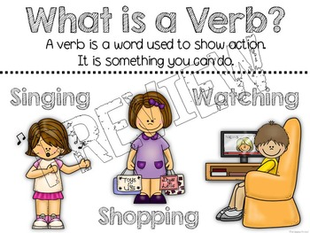 Parts of Speech:  Verbs
