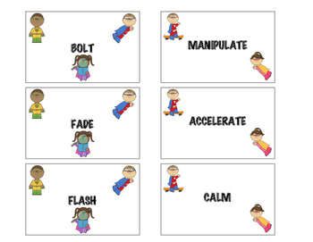 Super Verbs! Superhero Action Words