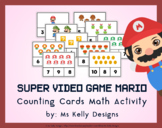Super Video Game Mario Counting Cards Math Activity