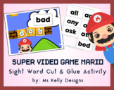 Super Video Game Mario Cut & Glue Craft Activity with 191 Sight Words