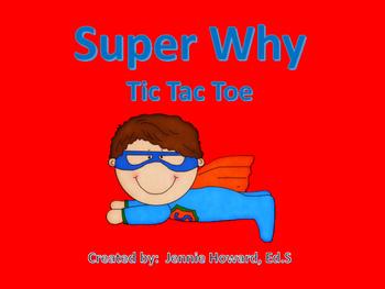 Super Why Tic Tac Toe