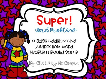 Super! Word Problems Board Game