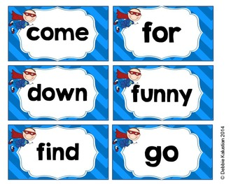 Super Words Sight Words Cards