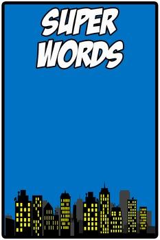 Super Words (Super Hero Theme) Freebie