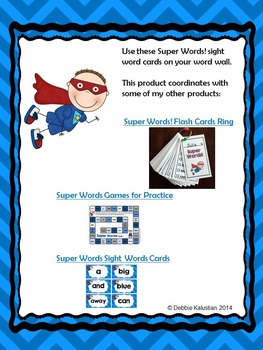 Super Words! Word Wall Cards