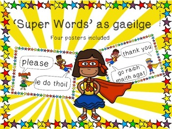 'Super Words' in english and gaeilge (irish)