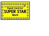Super Work Punch Card
