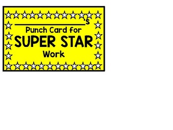 Super Work Punch Card