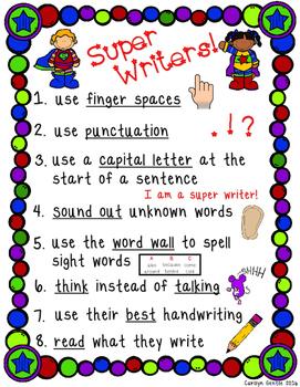 Super Writer Poster!