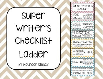 Super Writer's Checklist Ladder