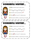 Super Writers Checklists and Awards
