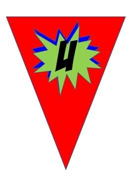 Super Writing Hero Pennant Banner