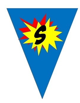 Super Writing Hero Pennant Banner